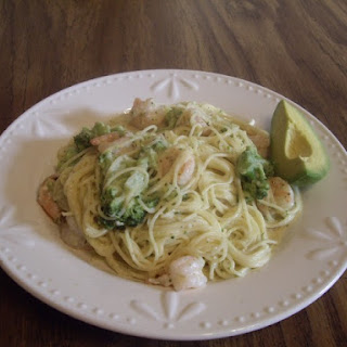 Angel Hair Pasta With Garlic Shrimp And Broccoli.