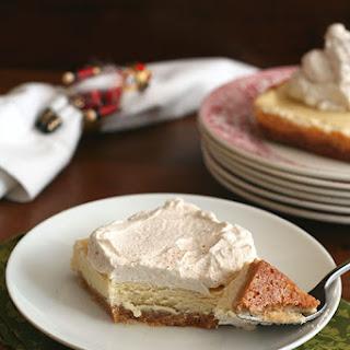 Eggnog Cheesecake Bars with Gingerbread Whipped Cream