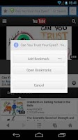 Screenshot of Private Bookmarks - UC Browser