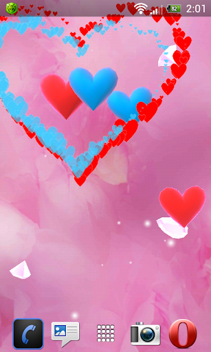 玩個人化App|Hearts Dance 3D live wallpaper免費|APP試玩