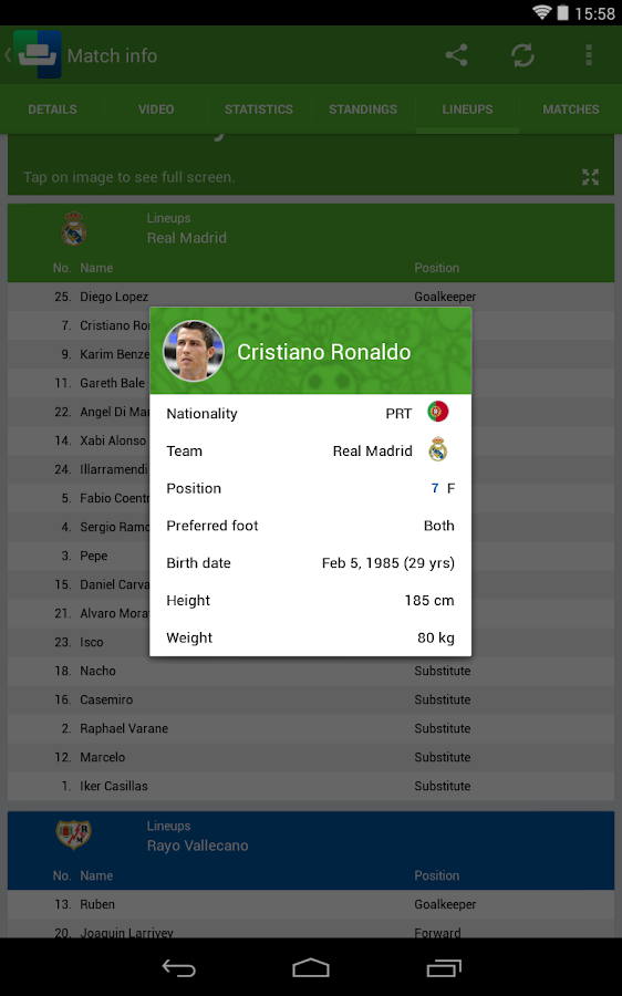 SofaScore World Cup Brazil 14 - screenshot