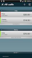 Screenshot of Debt Tracker IOU still waitin