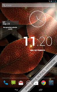 Tap Leaves Free Live Wallpaper- screenshot thumbnail