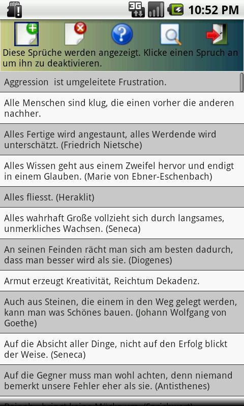 SpruchKlopfer - Zitate+Sprüche- screenshot
