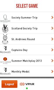 VPAR Live Golf Scoring - screenshot thumbnail