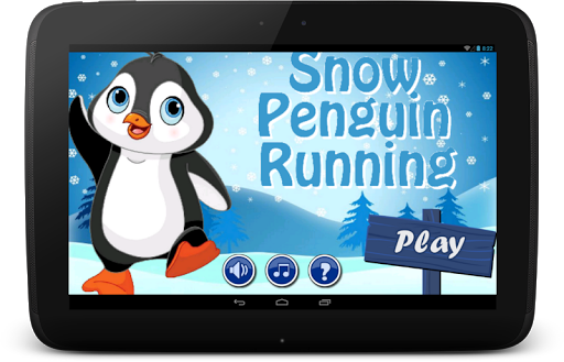 Snow Penguin Running