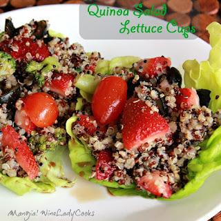 Quinoa Salad Lettuce Cups