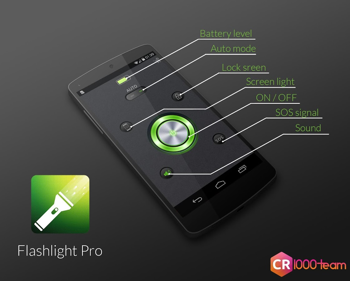 Flashlight Pro - CR1000Team- screenshot