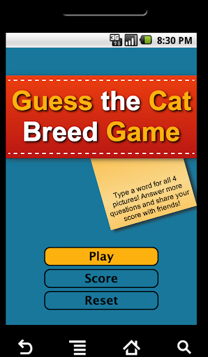 Guess the Cat Breed Game