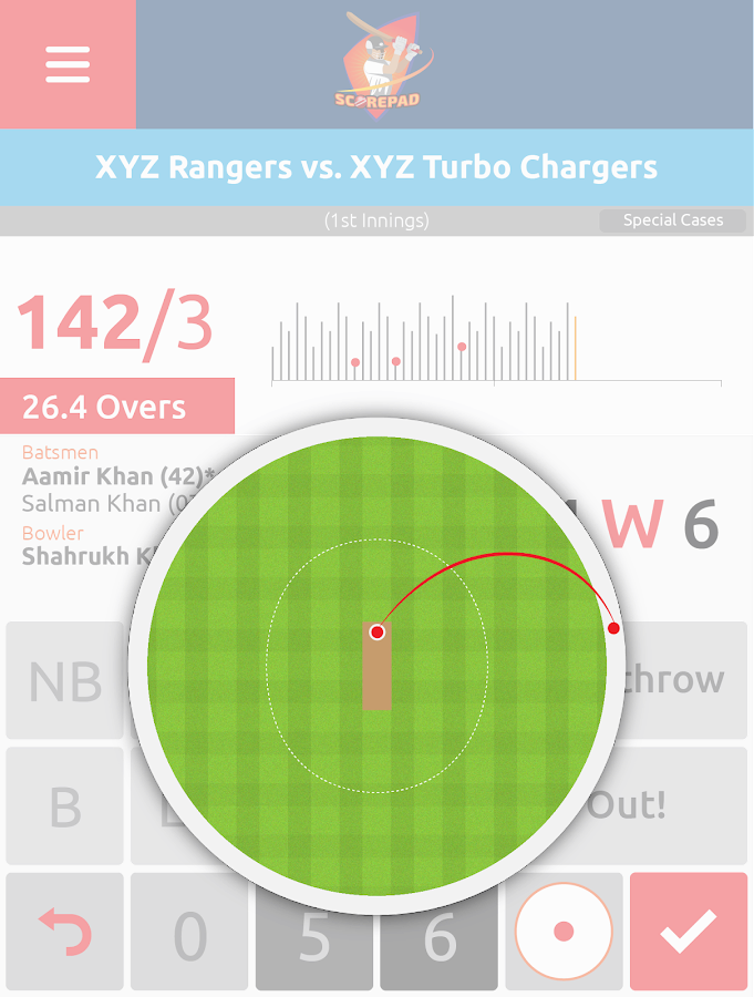 Cricket Score Pad- screenshot