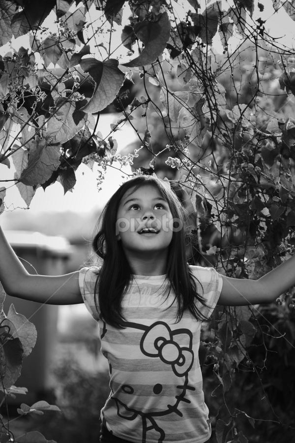 Discovered something by Maria Grace Fonda - Babies & Children Child Portraits ( black and white, b&w, child, portrait )
