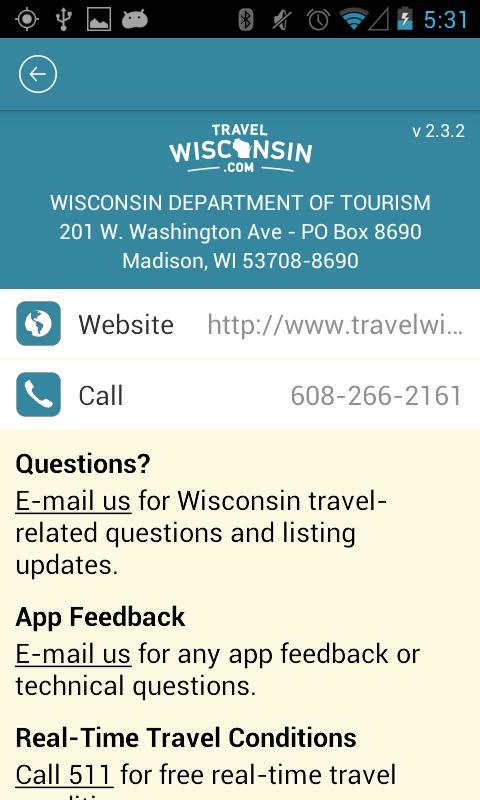 Travel Wisconsin - screenshot