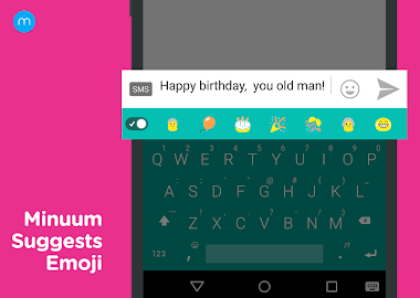 Minuum Keyboard + Smart Emoji Screenshot 2