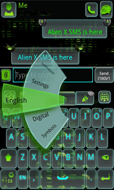 GO Keyboard Alien X- screenshot