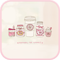 Sweet pink  go launcher theme 1.2