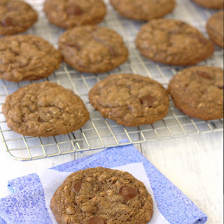 Oatmeal Cocoa Chocolate Chip Cookies.