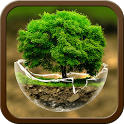 2018HD Green Nature Cartoon Theme for android free icon