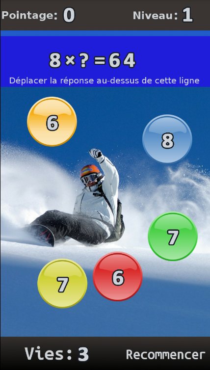 FRENCH Maths Algebra Game- screenshot