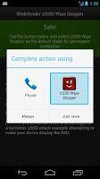 Screenshot of Bitdefender USSD Wipe Stopper