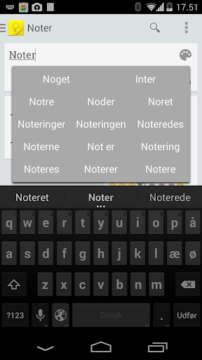 Danish Dict for KK Keyboard