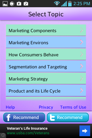 MBA Marketing Learn Test- screenshot