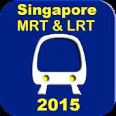 Singapore MRT and LRT Map 2015