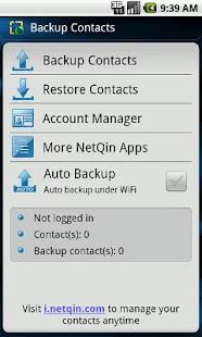 Contacts Backup & Restore - screenshot thumbnail
