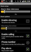 Screenshot of Bluetooth umbilical