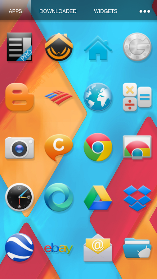 KitKat 4.4 Launcher Theme - screenshot