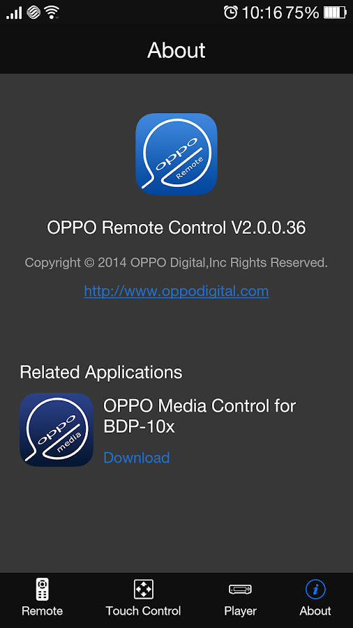 OPPO Remote Control - screenshot