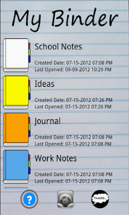 My Binder: Tabbed Notes- screenshot thumbnail