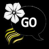 GO SMS - Swirly Yellow Flower