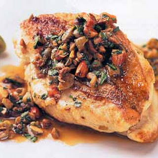 Olive-Stuffed Chicken with Almonds.