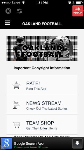 Oakland Football STREAM