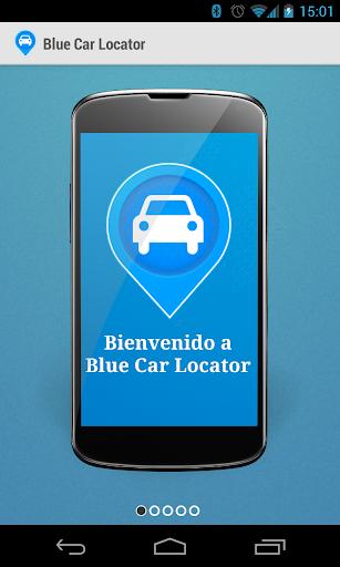 Blue Car Locator