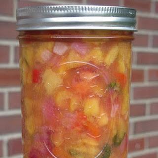 Canning Peach Salsa.