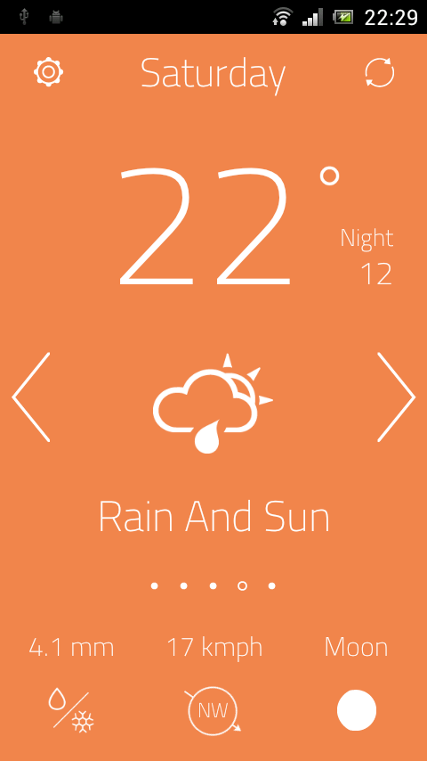 oW weather - screenshot
