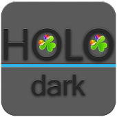 Holo Dark Blue GoWidgets Theme