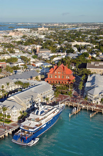 The harbor in Key West, Florida.