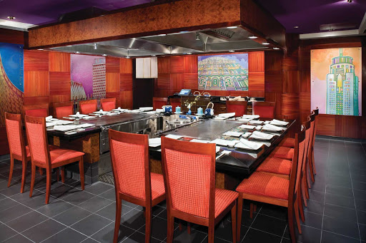 Norwegian-Jade-dining-Teppanyaki - Dine on freshly prepared Japanese dishes at Norwegian Jade's Teppanyaki, a cozy hibachi restaurant.