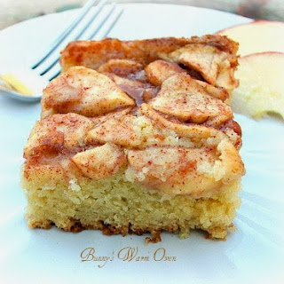 Apple Topped Cream Cheese Coffee Cake.