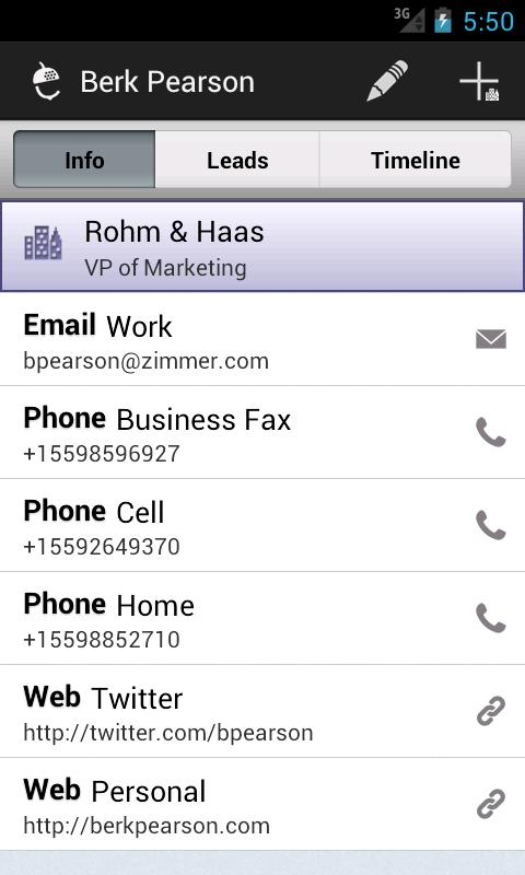Nutshell CRM - screenshot