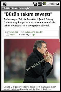 Andro Trabzonspor Haber - screenshot thumbnail
