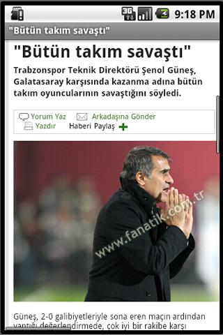 Andro Trabzonspor Haber - screenshot