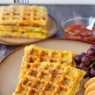 Potato, Egg and Cheese Waffles.