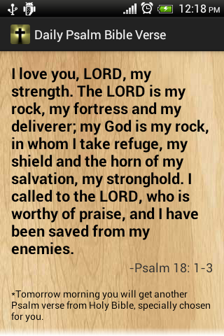 Daily Bible Verses Free Psalms