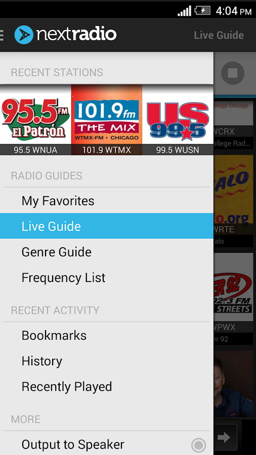 NextRadio - Free FM Radio - screenshot