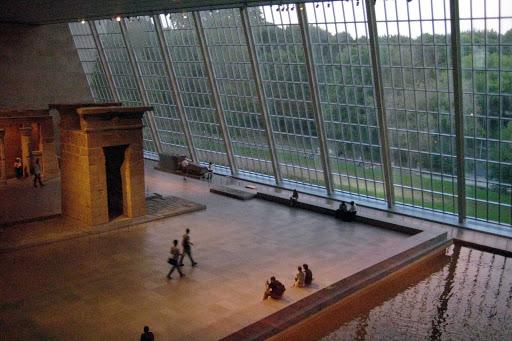The Temple of Dendur in the Metropolitan Museum of Art in New York.