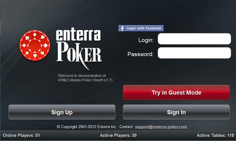 Enterra Poker- screenshot