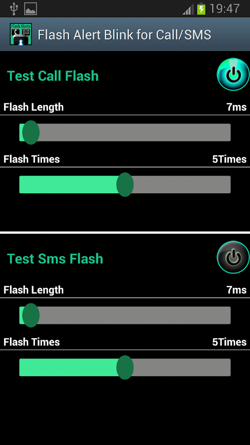 Flash Alert Blink For Call/SMS - screenshot